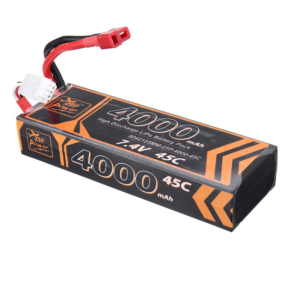 ZOP Power 7.4V 4000mAh 45C 2S Lipo Батарея T Plug для RC Авто - фото 6