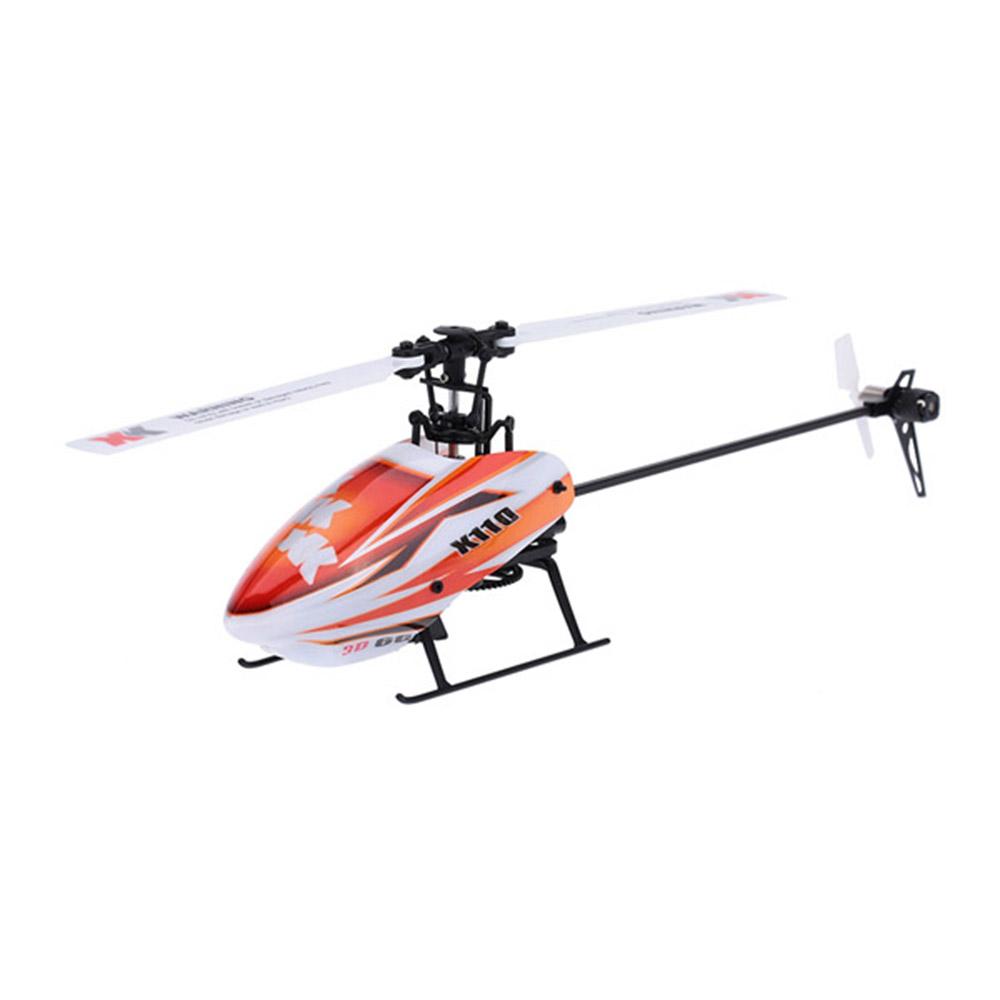 XK K110 2.4G 6CH 3D Flybarless RC Вертолет RTF Совместимо с FU-TABA S-FHSS С 4PCS 3.7V 450MAH Lipo Батарея - фото 2