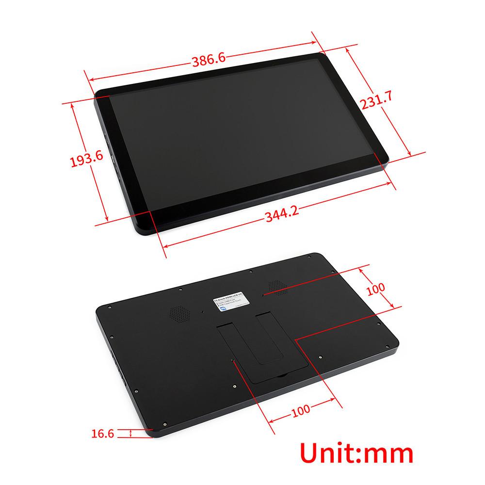 Wareshare 15,6 дюймов IPS HDMI Дисплей Type-C Емкостный сенсорный экран 1920  1080 для NVIDIA Jetson Nano Raspberry Pi - фото 5