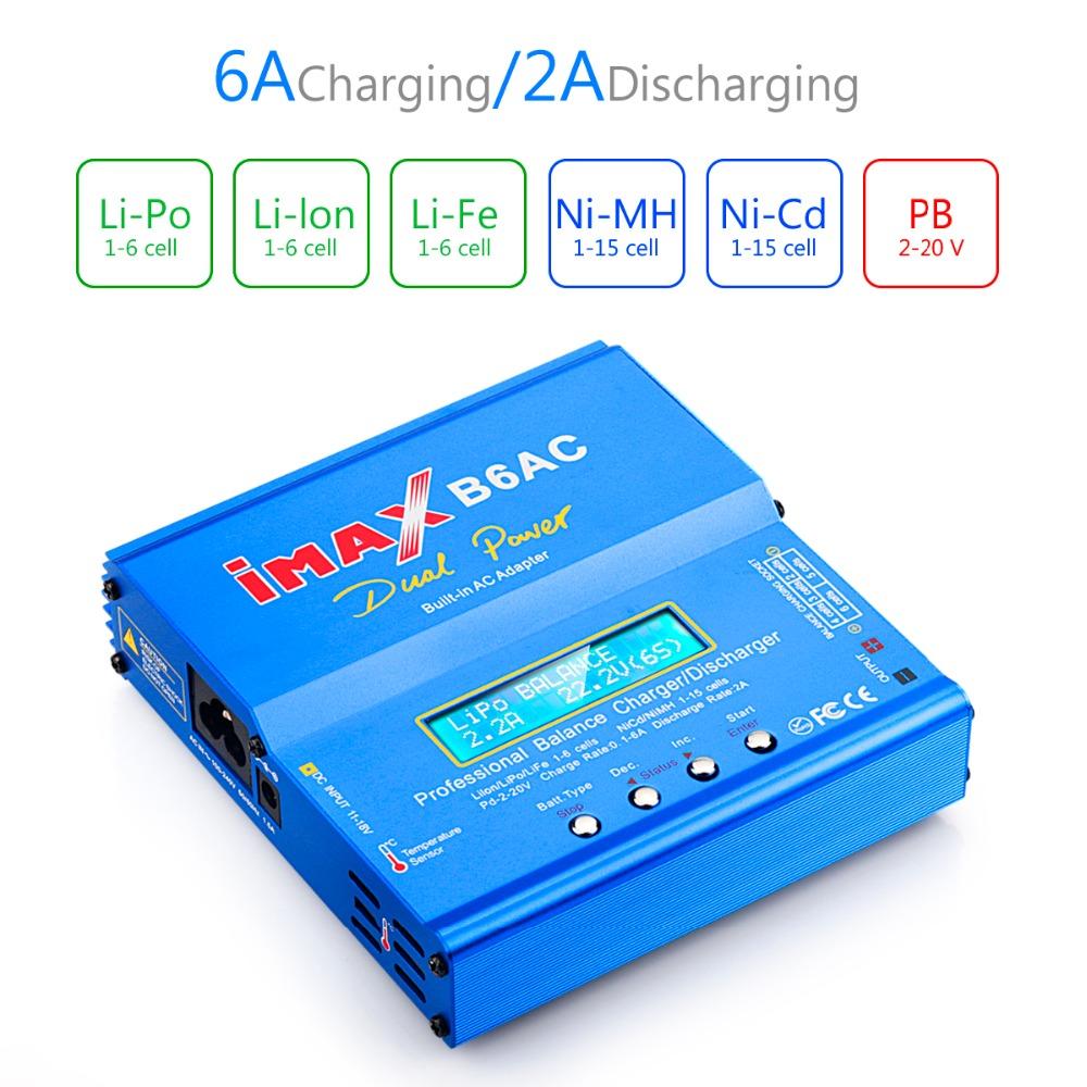 IMAX B6AC 80 Вт 6A Зарядное устройство с двумя весами и зарядным устройством с параллельной зарядкой XT60 T Plug - фото 7