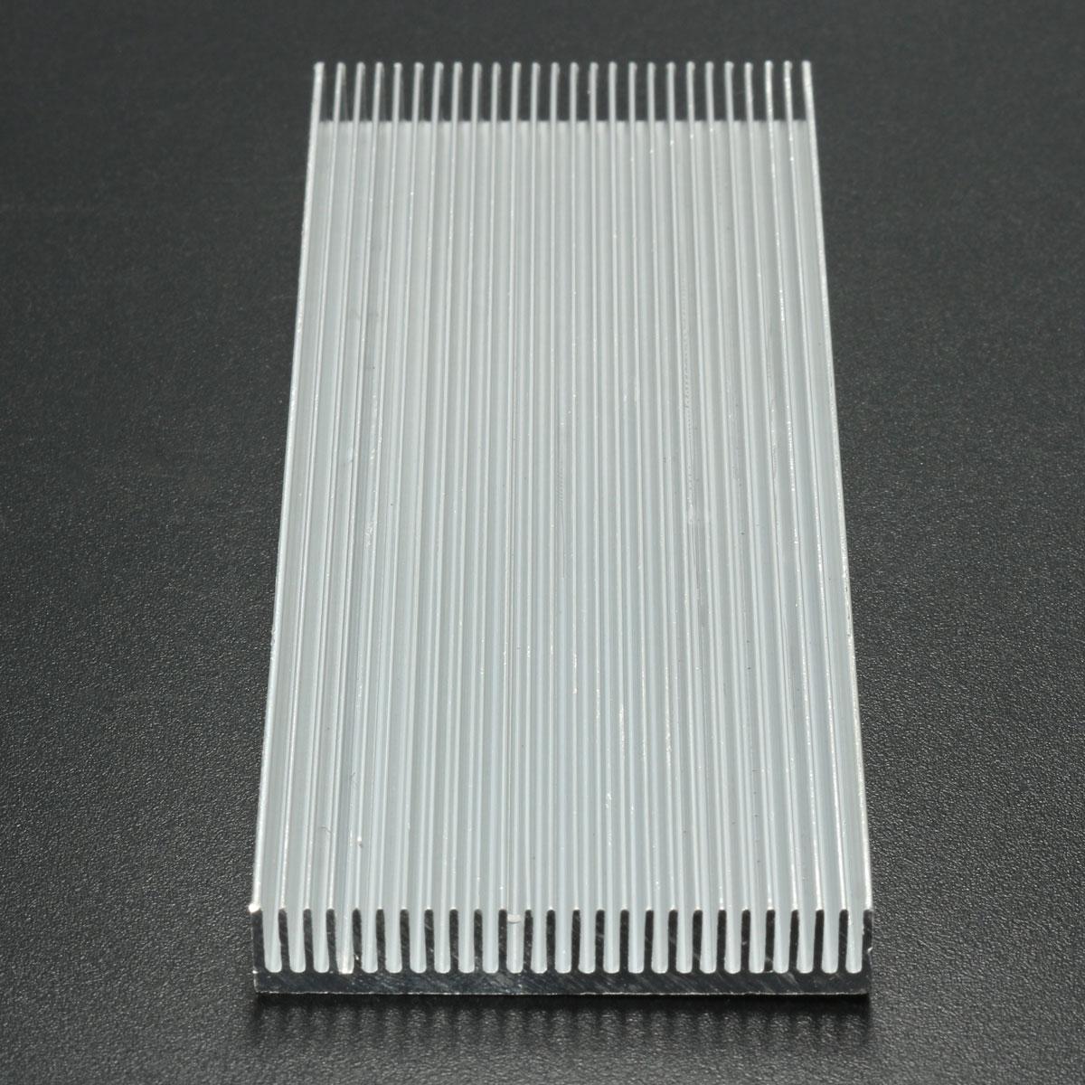 5pcs 100x41x8mm алюминиевый радиатор радиатора радиатора для высокой мощности LED Усилитель Охлаждение транзистора - фото 5