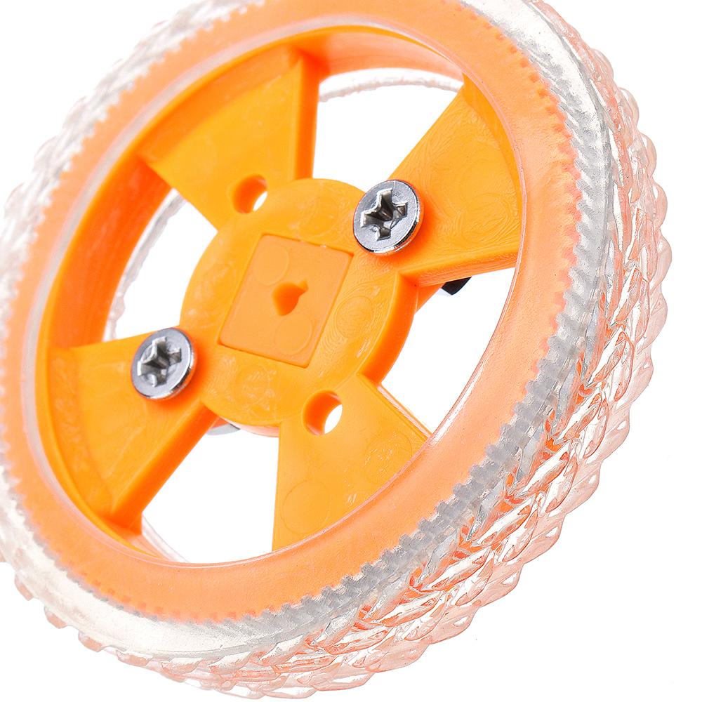 4шт 70 * 12мм Желтые износостойкие резиновые колеса для двигателя N20 - фото 2