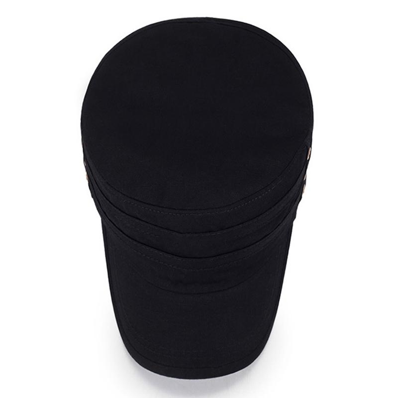 Мужчины Женское сплошной цвет моде хлопок плоские шапки зонтик случайные на открытом воздухе регулируемая шапка - фото 3