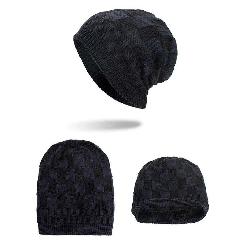 МужчиныЖенскоеЗимнийтеплыйкоралловыйфлис Тушеные шапочки Шапочки На открытом воздухе Двойные слои Трикотажные Шапка - фото 12