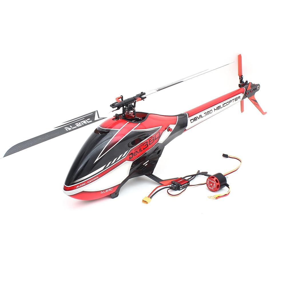 ALZRC Devil 380 FAST FBL 6CH 3D Flying RC Вертолет Стандартный комбинированный с 3120 Pro Бесколлекторный мотор 60A V4 E - фото 1