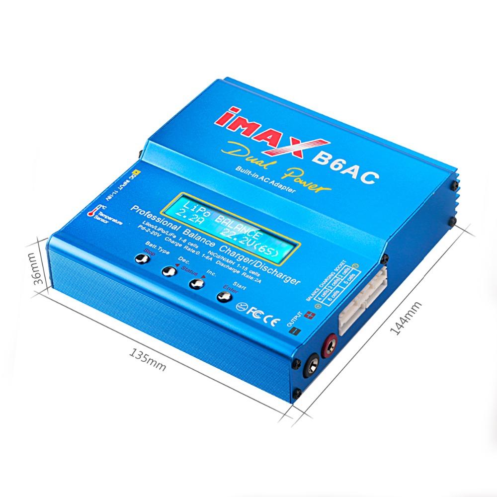 IMAX B6AC 80 Вт 6A Зарядное устройство с двумя весами и зарядным устройством с параллельной зарядкой XT60 T Plug - фото 3