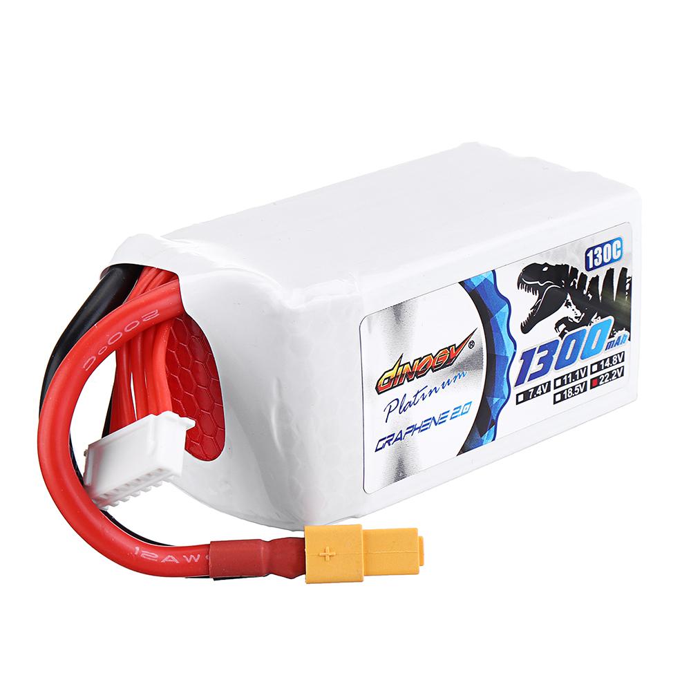 DINOGY ULTRA GRAPHENE 2.0 22.2V 1300mAh 130C 6S Lipo Батарея XT60 Разъем для RC Racing Дрон - фото 3
