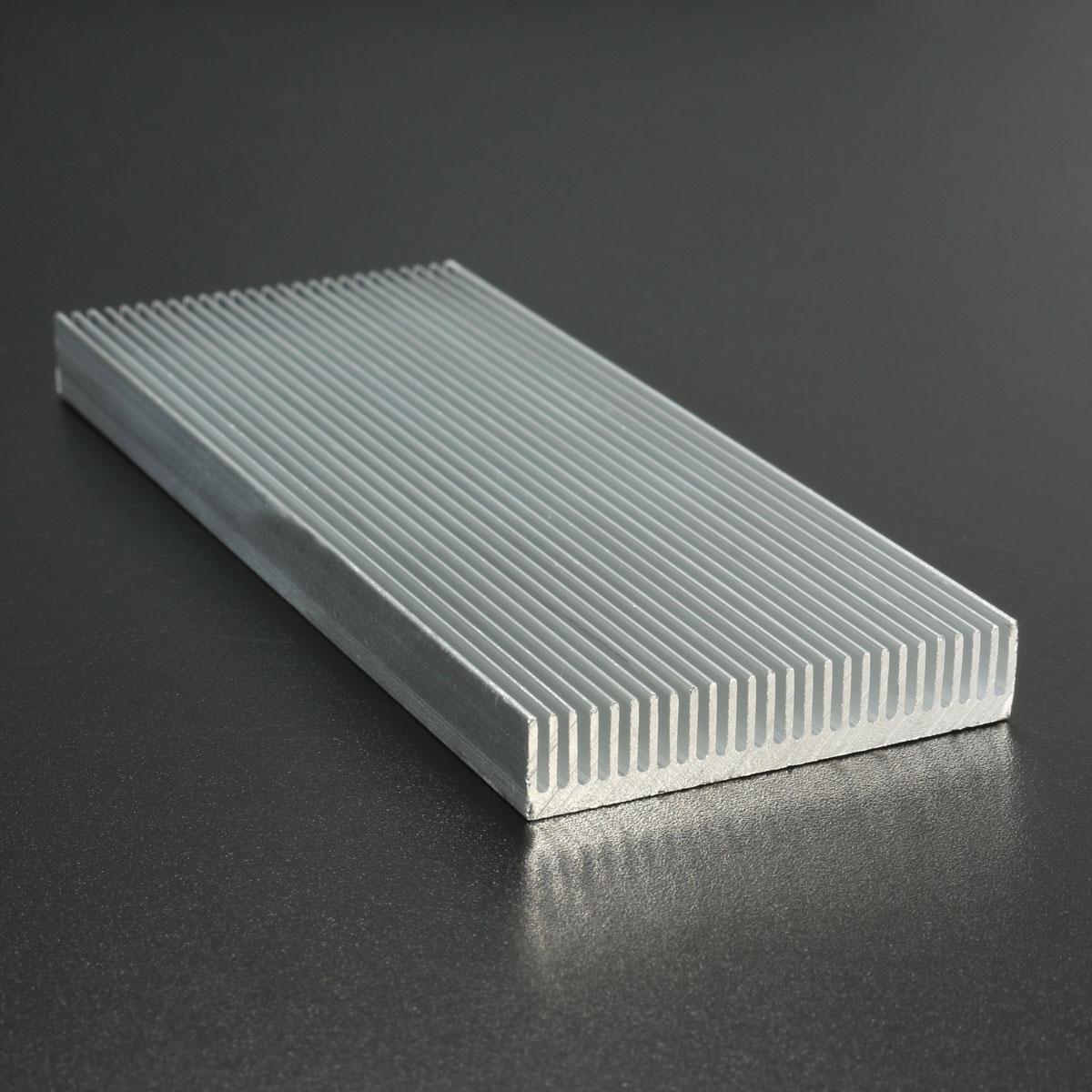 5pcs 100x41x8mm алюминиевый радиатор радиатора радиатора для высокой мощности LED Усилитель Охлаждение транзистора - фото 8