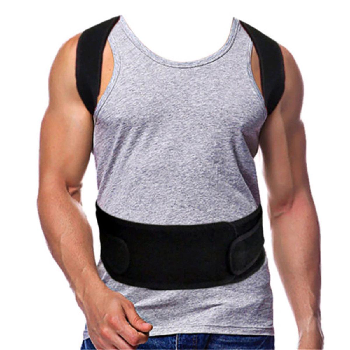 Регулируемая задняя поддержка Ремень Задняя стойка Корректор на плече поясничного отдела позвоночника Back Protector - фото 8a43efff-4533-469a-91c1-afb28bff2996.jpg