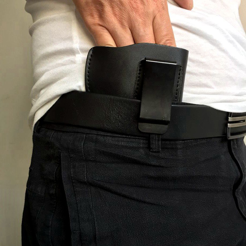 СкрытыйCarryCattleHideLeatherGun Holster Tactical Сумка Для мужчин Женское Аксессуары для охотничьего оружия - фото 1