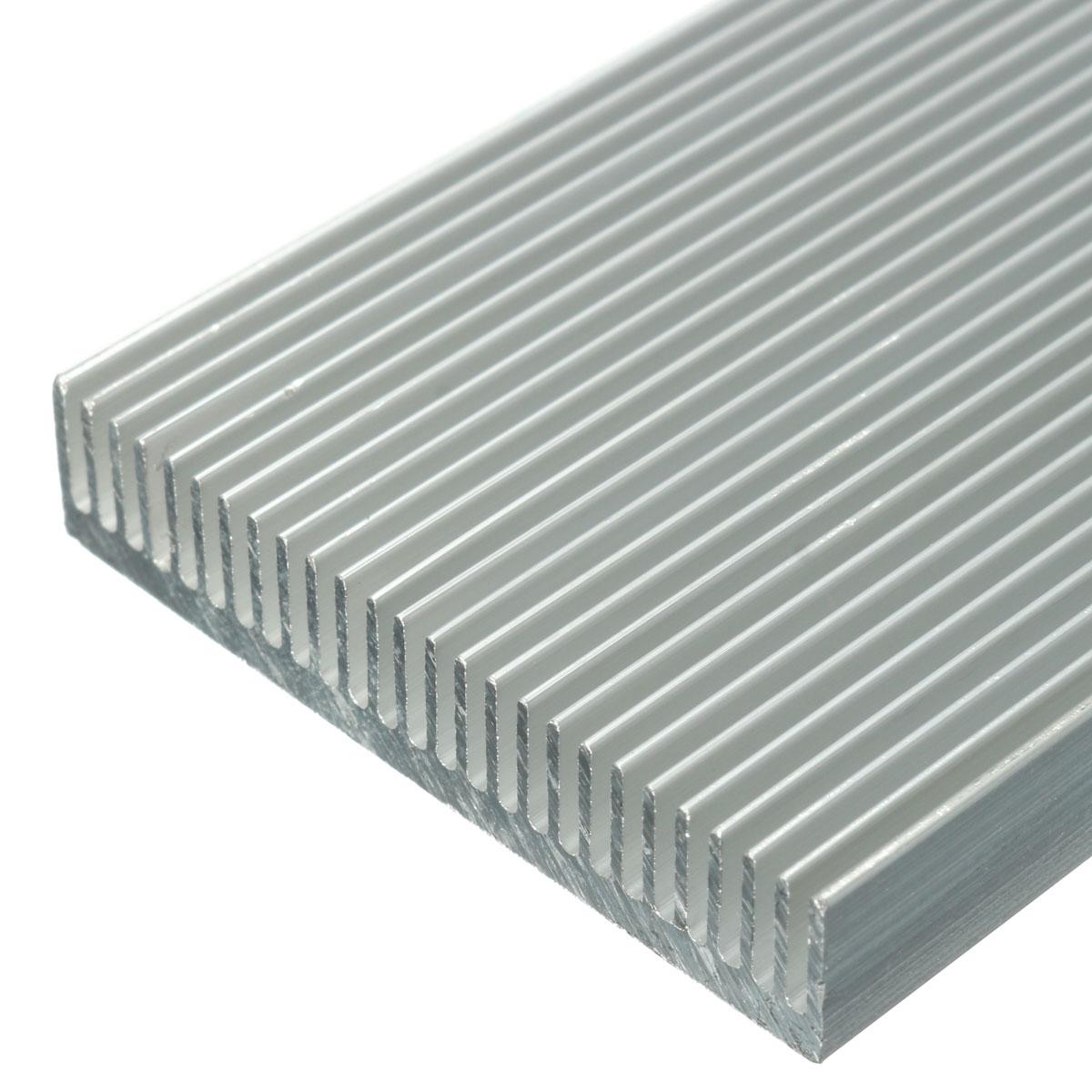 5pcs 100x41x8mm алюминиевый радиатор радиатора радиатора для высокой мощности LED Усилитель Охлаждение транзистора - фото 3