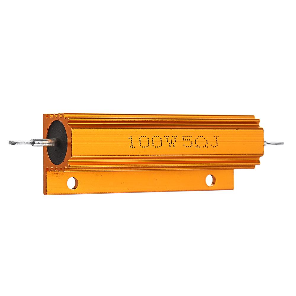 5шт RX24 100 Вт 5R 5RJ Металл Алюминий Чехол Мощный резистор Золотой металлический корпус Чехол Сопротивление радиатора - фото 4