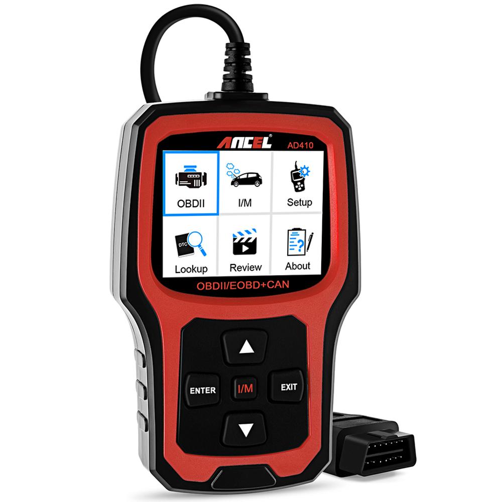 Ancel AD410 OBD2 Оригинальный OBD EOBD Automotive Авто Диагностический сканер Инструмент Сканер кодов Набор - фото 1