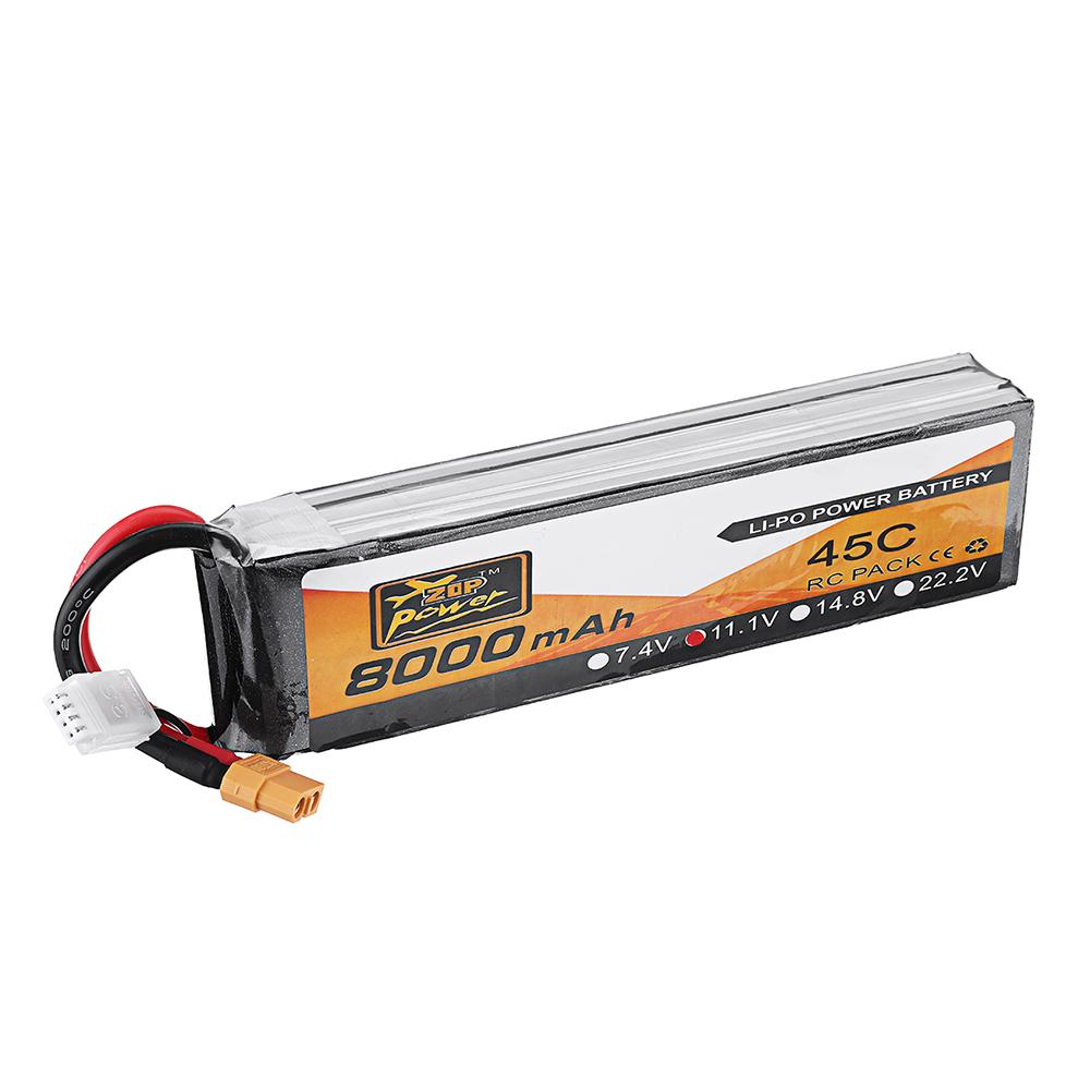 ZOP Power 11.1V 8000mAh 45C 3S Lipo Батарея для РУ Квадрокоптер FPV Дрон - фото 6