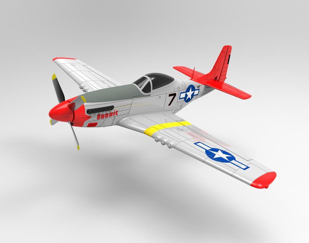 Volantex RC 768-1 Mustang P-51D 750 мм Размах крыльев EPO Warbird RC Самолет PNP - фото 1
