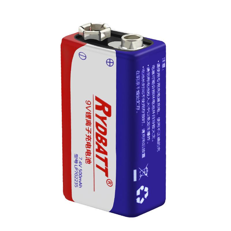 RYDBATT 9V 500mAh аккумуляторная Lipo Батарея - фото 3