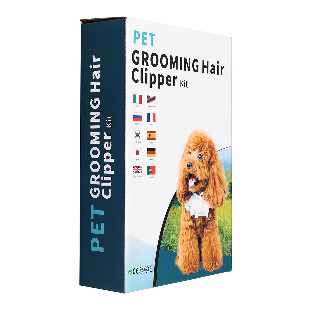 Профессиональный Pet Кот Собака Волосы Clipper Grooming Электрический USB Аккумуляторная Триммер Набор С Расчески - фото 10