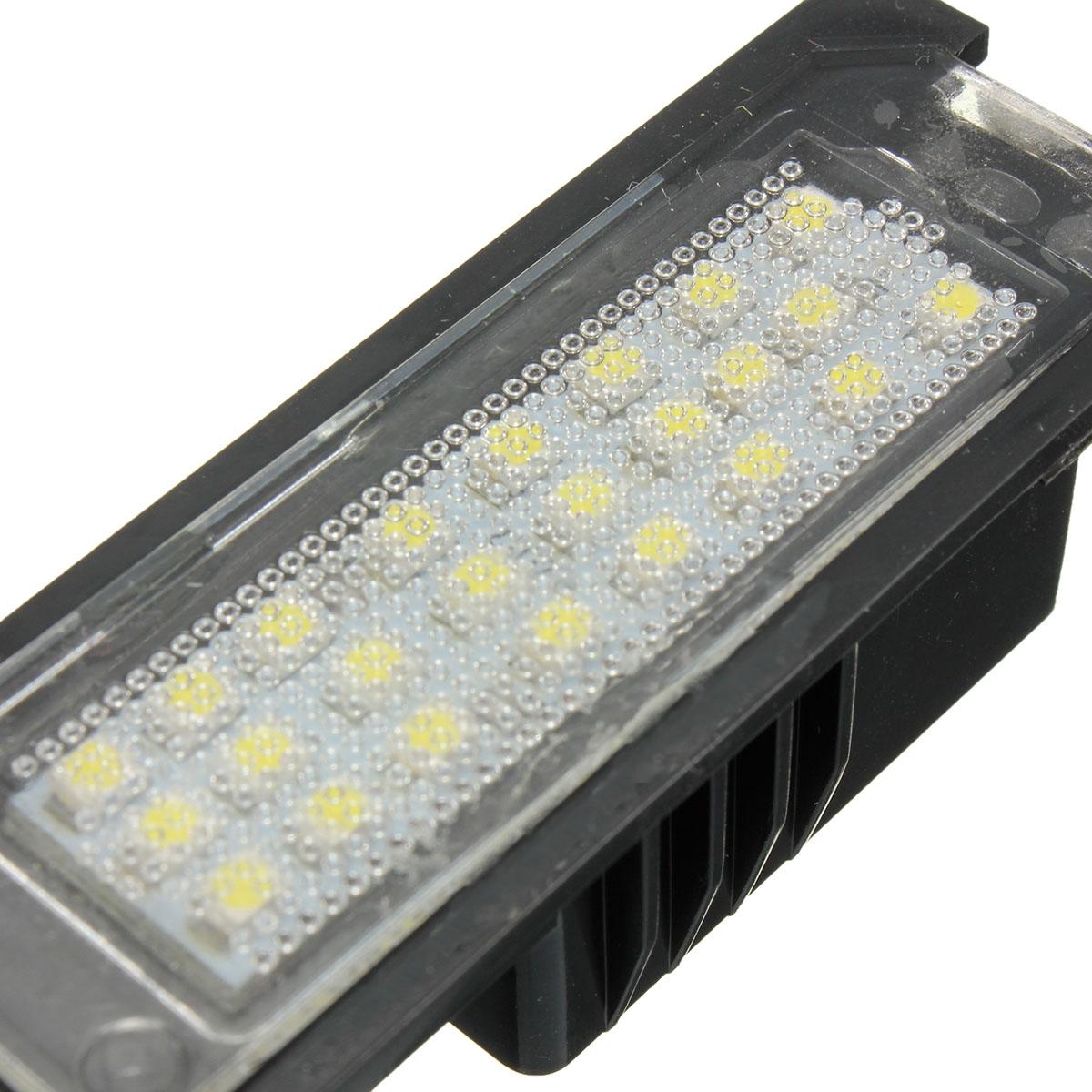 2 ШТ. 24 светодиода Номер лицензии Пластина Фары белого цвета для VW Passat Golf MK5 MK6 POLO - фото 5