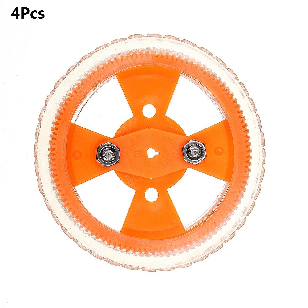 4шт 70 * 12мм Желтые износостойкие резиновые колеса для двигателя N20 - фото 1