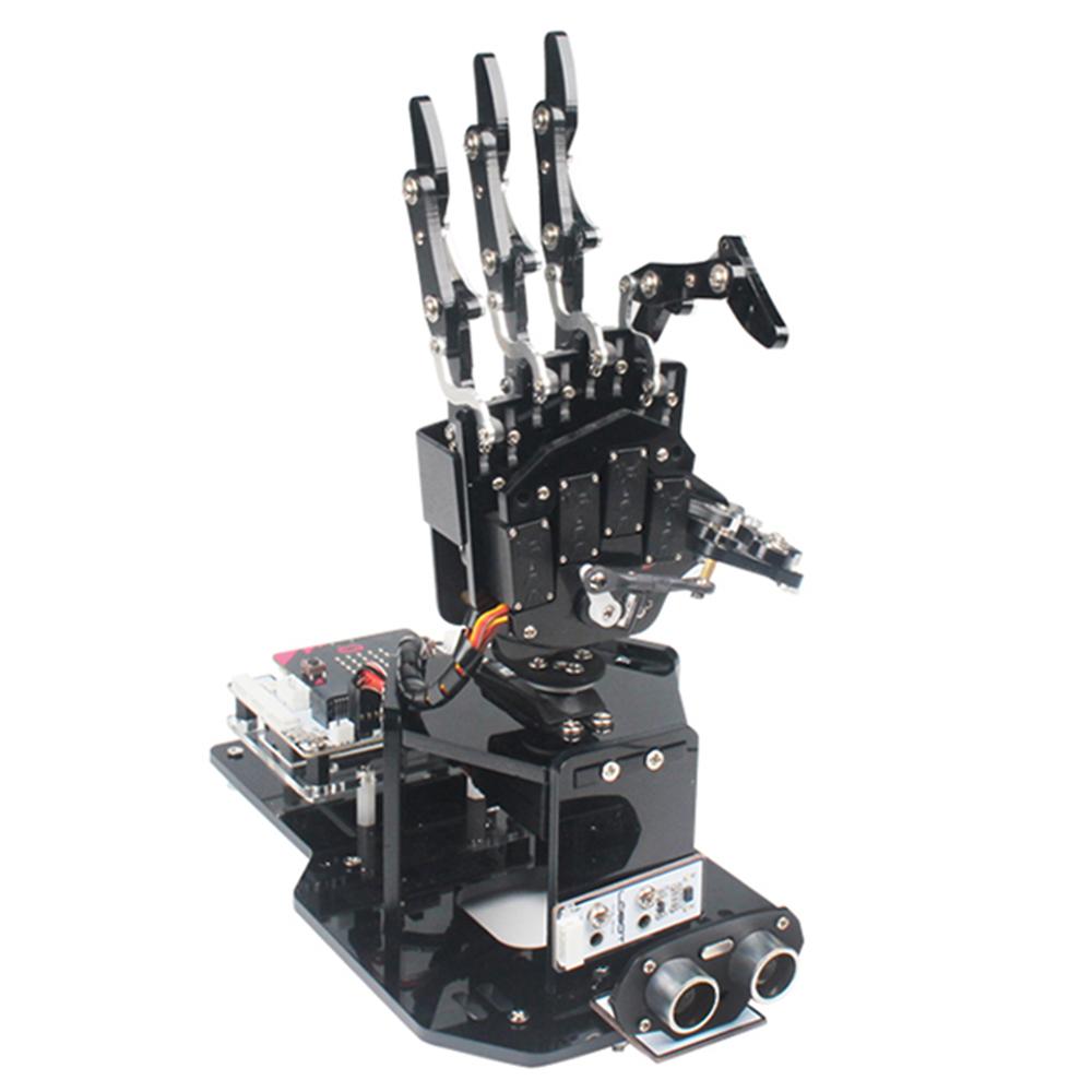 LOBOT uHandbit Micro: бит DIY Графическая программа с открытым исходным кодом APP Control RC Robot Arm Обучающие Набор - фото 1
