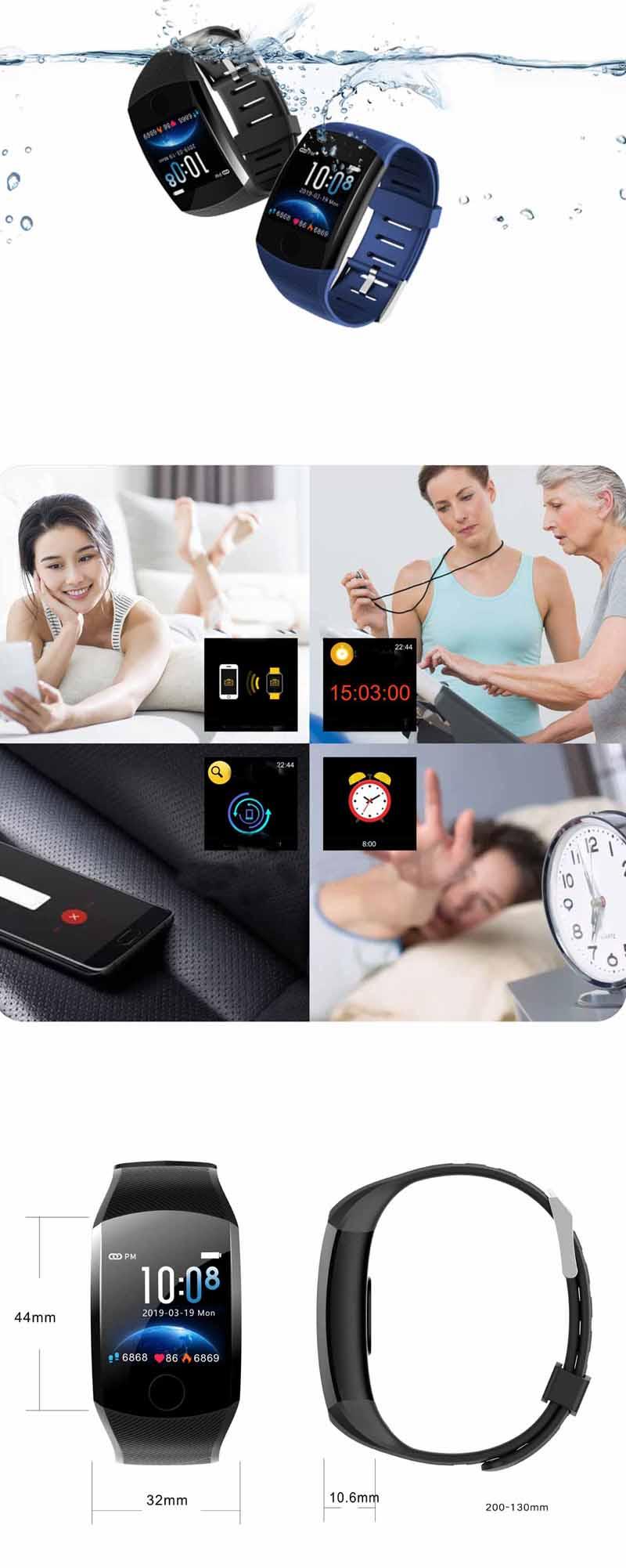 XANESQ111,3-дюймовыйсенсорныйэкранВодонепроницаемы Smart Watch Call Reject Фитнес Спортивный браслет - фото 4