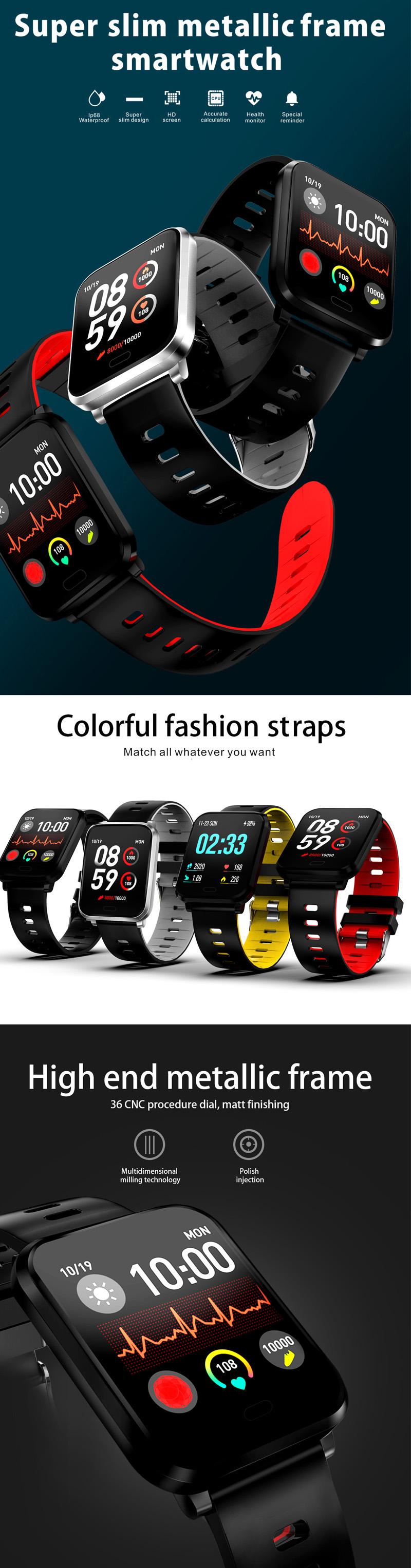 XANESK101,3-дюймовыйцветнойсенсорныйэкран Водонепроницаемы Smart Watch Несколько спортивных браслет Фитнес - фото 1