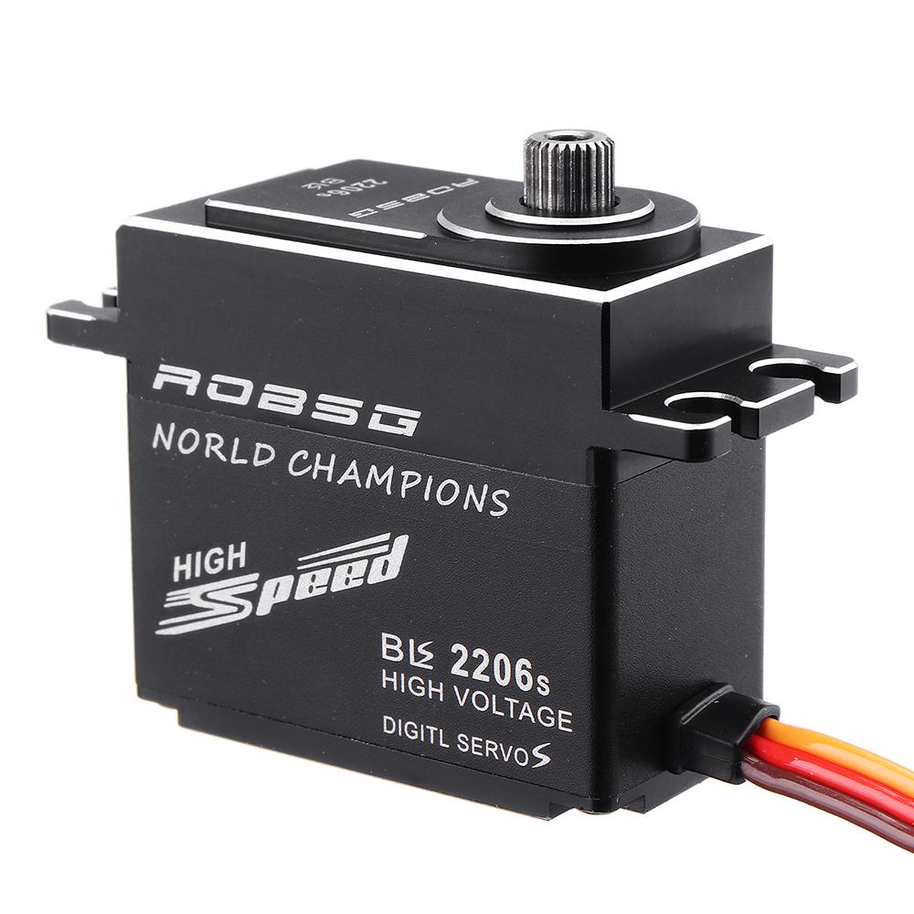 ROBSG BLS2206S 25 кг Бесколлекторный Водонепроницаемы Metal Gear Digital Сервопривод Для 1/8 1/10 RC Авто 600-700 Класс - фото 3