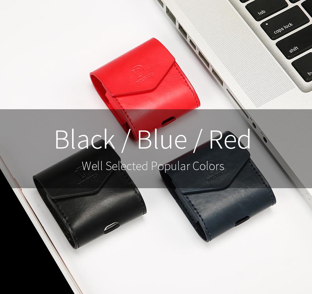 DUX DUCIS Для Apple AirPods Чехол Роскошный кожаный магнитный чехол для Airpods Наушник - фото 3