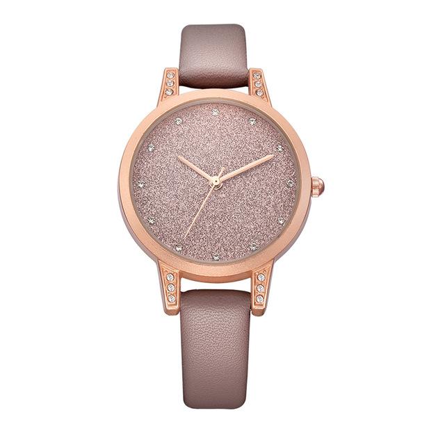 REBIRTH RE018 Rhinestone Elegant Дизайн Женское Наручные часы Розовое золото Чехол Кварцевые часы - фото 5