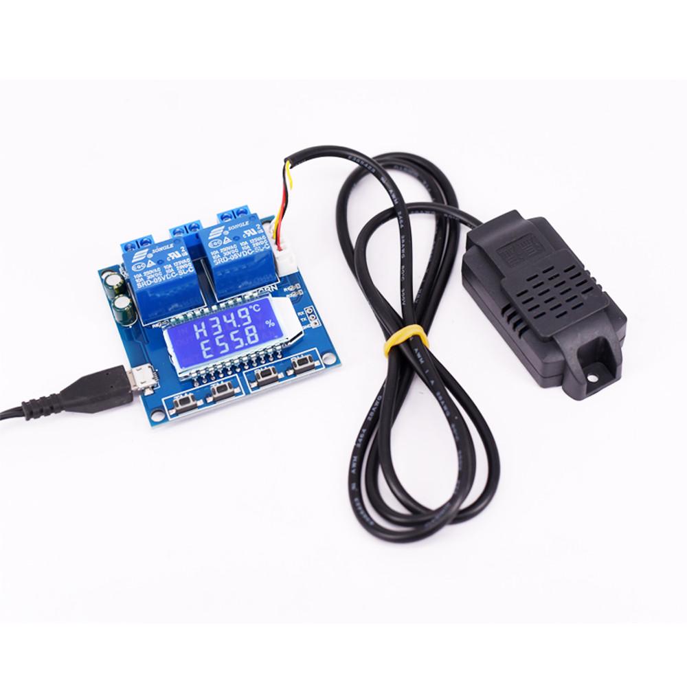 Цифровой Дисплей модуль контроля температуры и влажности с двойным выходом Автоматическая приборная панель с Датчик - фото 1