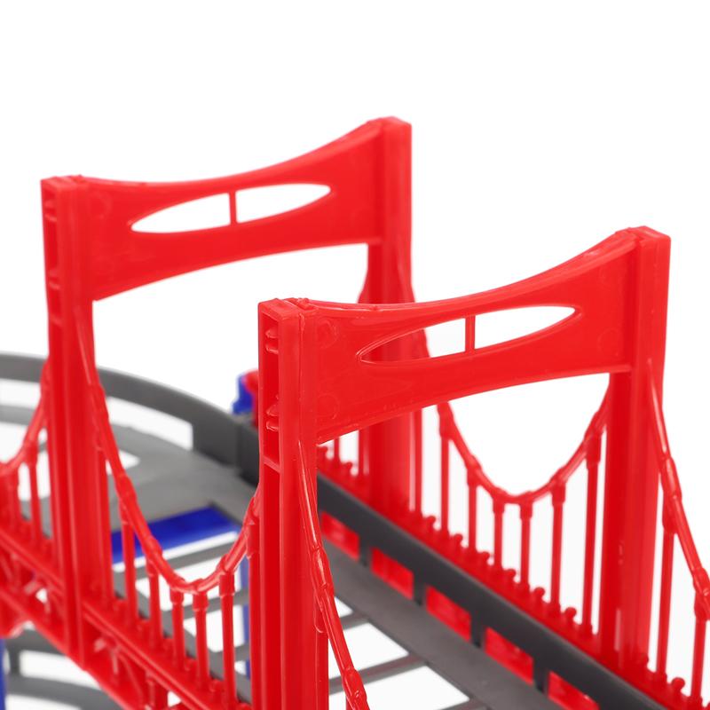 88шт / 90шт DIY трек гонки Авто детские игрушки Набор электрические Авто трек игрушки детские подарки 63,5 * 31,5 * 14,5 - фото 8