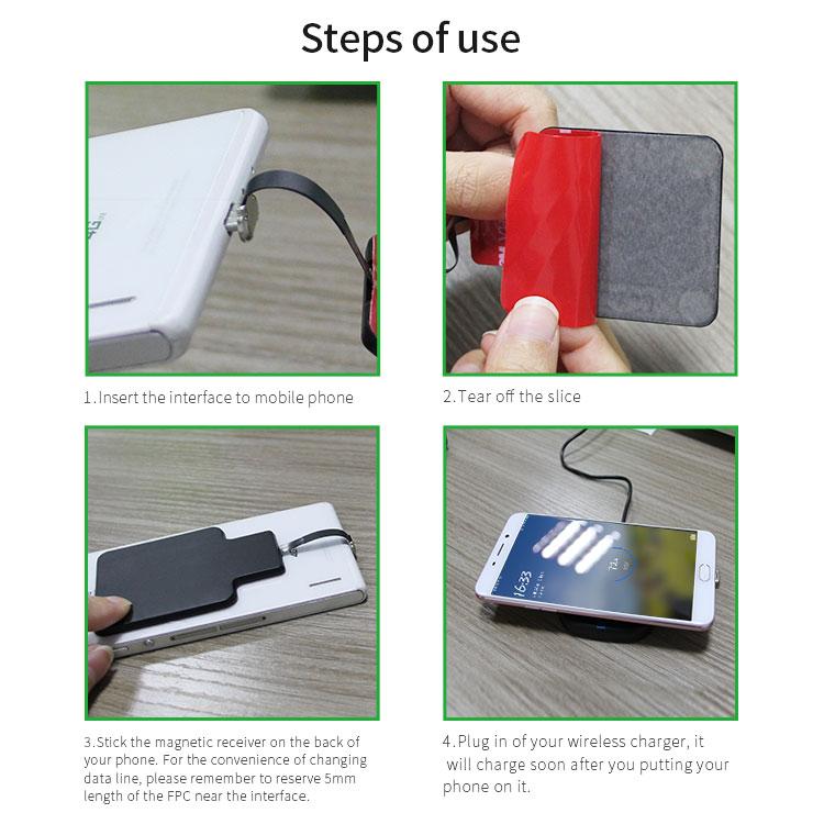 Bakeey Micro USB Qi Беспроводное зарядное устройство Приемник Для Redmi 5 Plus Примечание 5 4 4X S7 S6 - фото 20