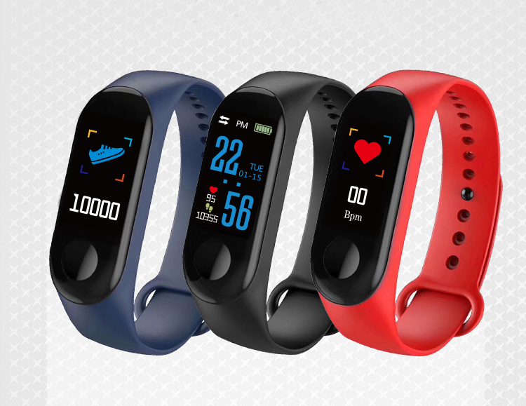 XANES MI3 0,96 '' TFT IP68 Водонепроницаемы Smart Bracelet Sleep Blood Oxygen Монитор Smart Watch mi band - фото 9