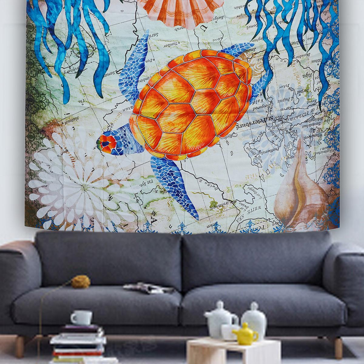 МорскаяЧерепахаПодвеснойГобеленСтеныДома Декоративные Tapete Спальня Одеяло Скатерть Yoga Мат - фото 3
