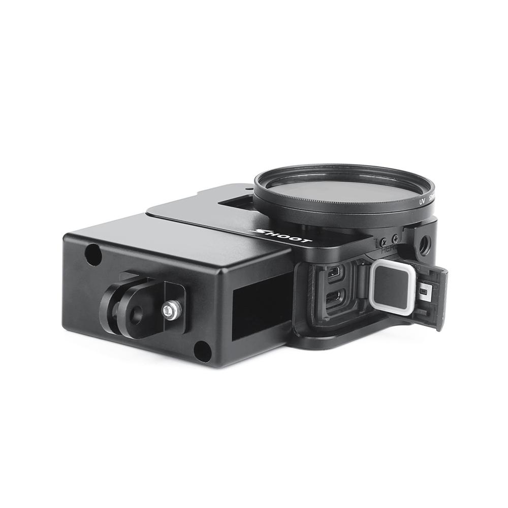 Защитная клетка Vlogging Чехол для GoPro Hero 7 6 5 Black камера Крепление для Микрофон Рамка корпуса Vlog Cage Чехол - фото 2