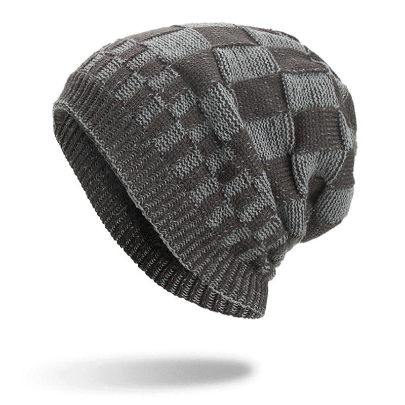 МужчиныЖенскоеЗимнийтеплыйкоралловыйфлис Тушеные шапочки Шапочки На открытом воздухе Двойные слои Трикотажные Шапка - фото 3