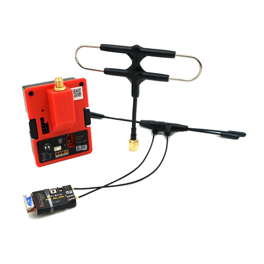 Модуль передатчика Frsky R9M 2019 с частотой 900 МГц и R9 Slim + Приемник с установленной антенной Super 8 и T - фото 1