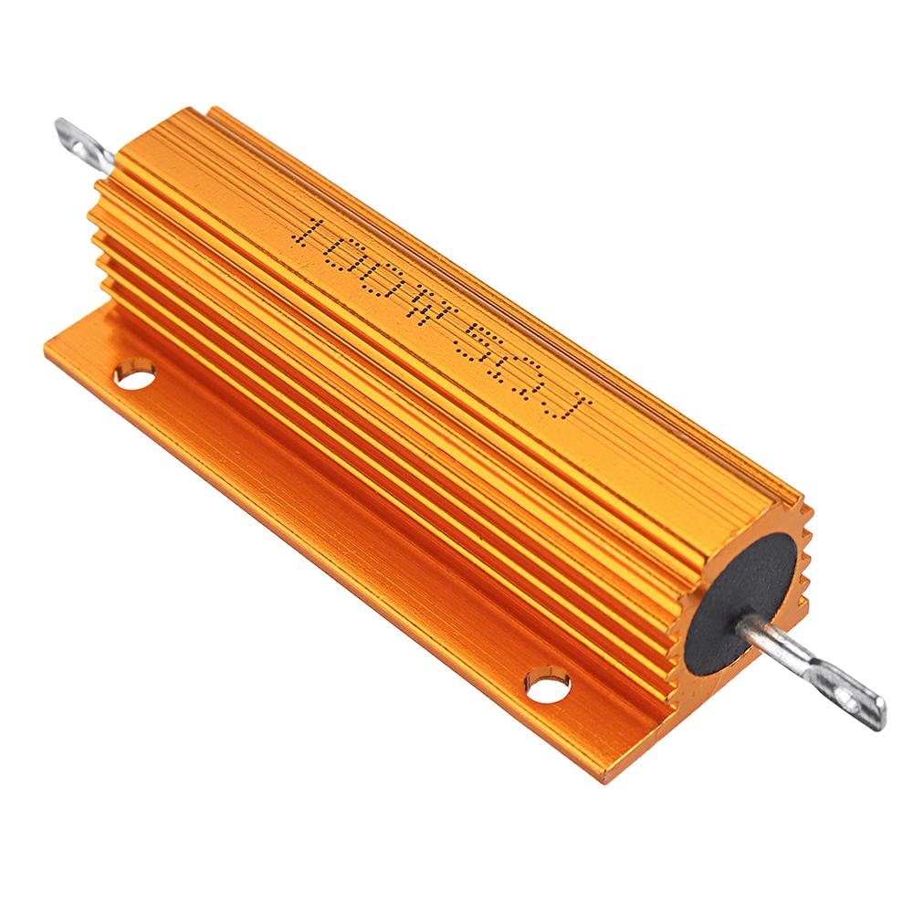 5шт RX24 100 Вт 5R 5RJ Металл Алюминий Чехол Мощный резистор Золотой металлический корпус Чехол Сопротивление радиатора - фото 2