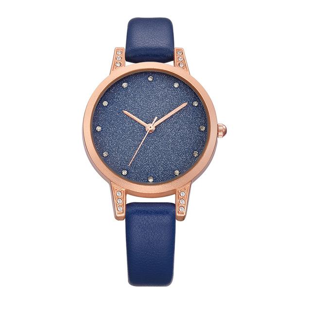 REBIRTH RE018 Rhinestone Elegant Дизайн Женское Наручные часы Розовое золото Чехол Кварцевые часы - фото 4
