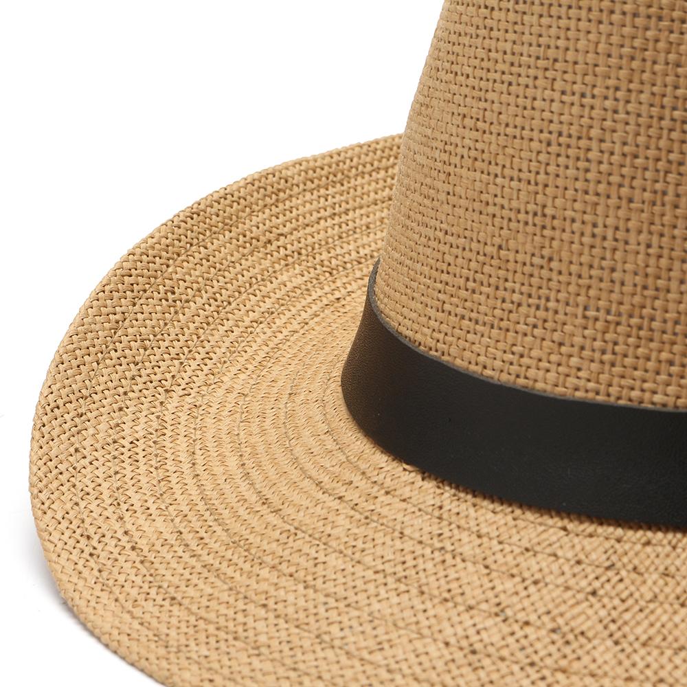 Взрыв хорошие люди Женское Лето На открытом воздухе соломенная Зонт Шапка сплошной цвет Пляжный джаз Шапка - фото 4