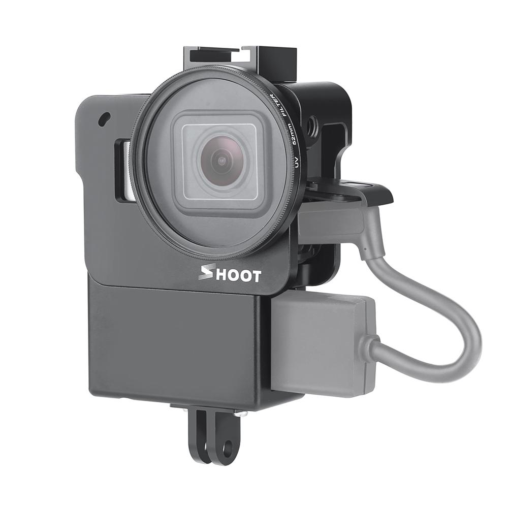 Защитная клетка Vlogging Чехол для GoPro Hero 7 6 5 Black камера Крепление для Микрофон Рамка корпуса Vlog Cage Чехол - фото 3