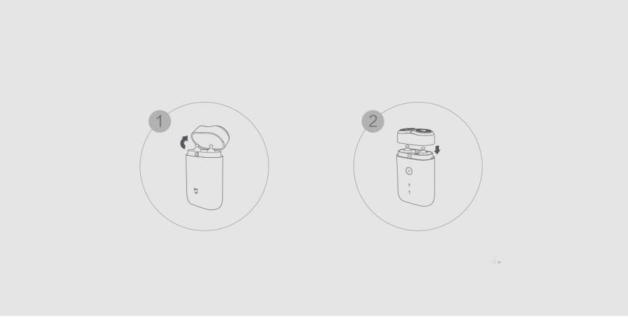 [2019новый]OriginalXiaomiMijiaDual Float Лопасти Бритва Type-C Электробритва IPX7 Водонепроницаемы Бесшумный Мотор - фото 14