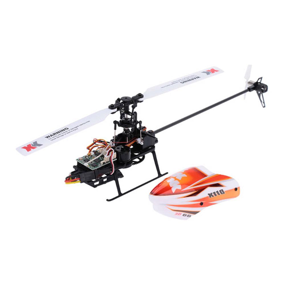 XK K110 2.4G 6CH 3D Flybarless RC Вертолет RTF Совместимо с FU-TABA S-FHSS С 4PCS 3.7V 450MAH Lipo Батарея - фото 4