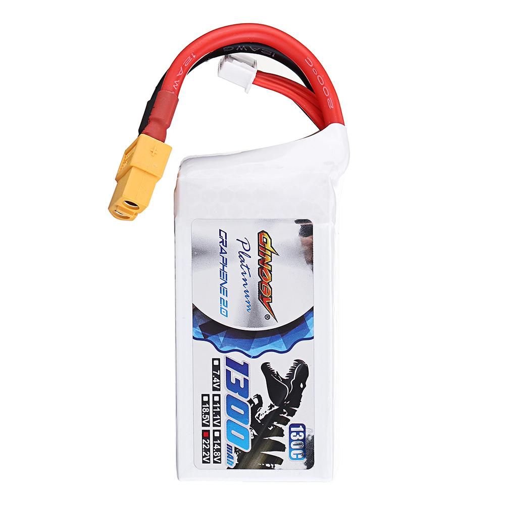 DINOGY ULTRA GRAPHENE 2.0 22.2V 1300mAh 130C 6S Lipo Батарея XT60 Разъем для RC Racing Дрон - фото 9