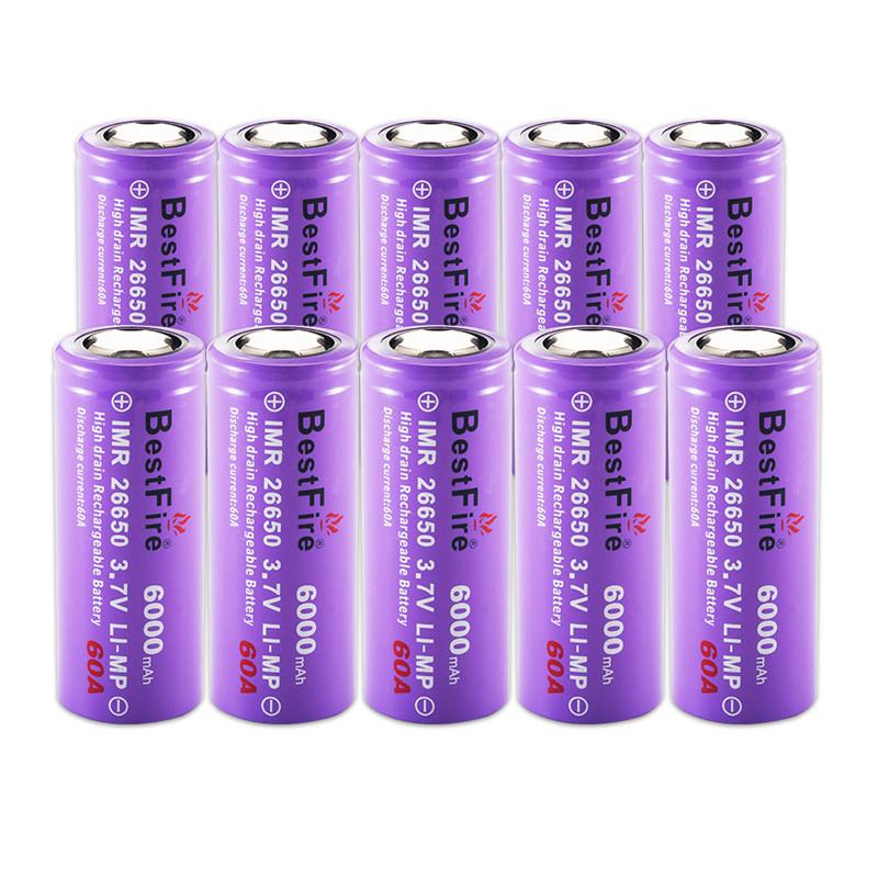 BestFire1шт26650Батарея6000мАч 60А 3,7 В литий-ионный аккумулятор Батарея - фото 4