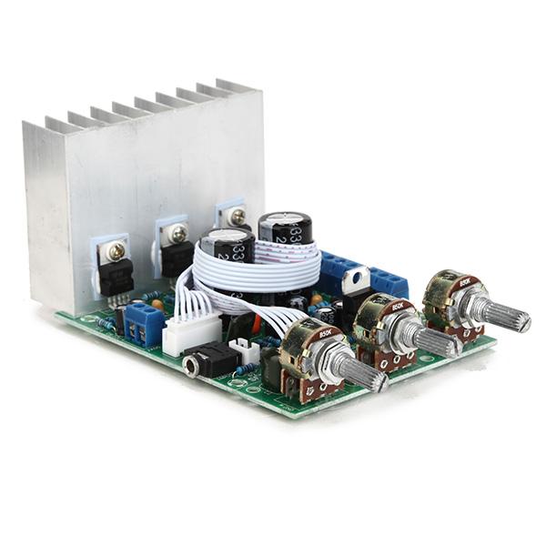 TDA2030A Сабвуфер Усилитель Плата 2.1 3-канальная Совместимость LM1875 - фото 3