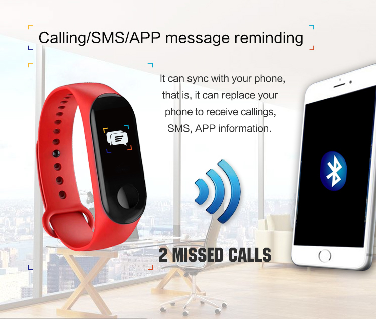 XANES MI3 0,96 '' TFT IP68 Водонепроницаемы Smart Bracelet Sleep Blood Oxygen Монитор Smart Watch mi band - фото 8