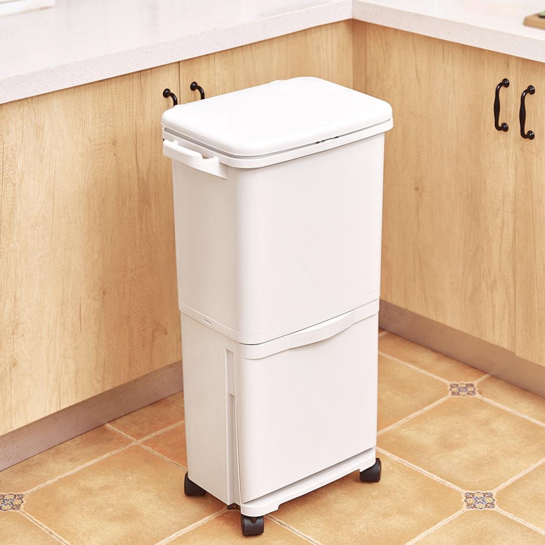 38L Большая емкость для мусора Двухпалубная крышка для мусора Ведро для хранения мусора Сумка от XIAOMI youpin - фото 2