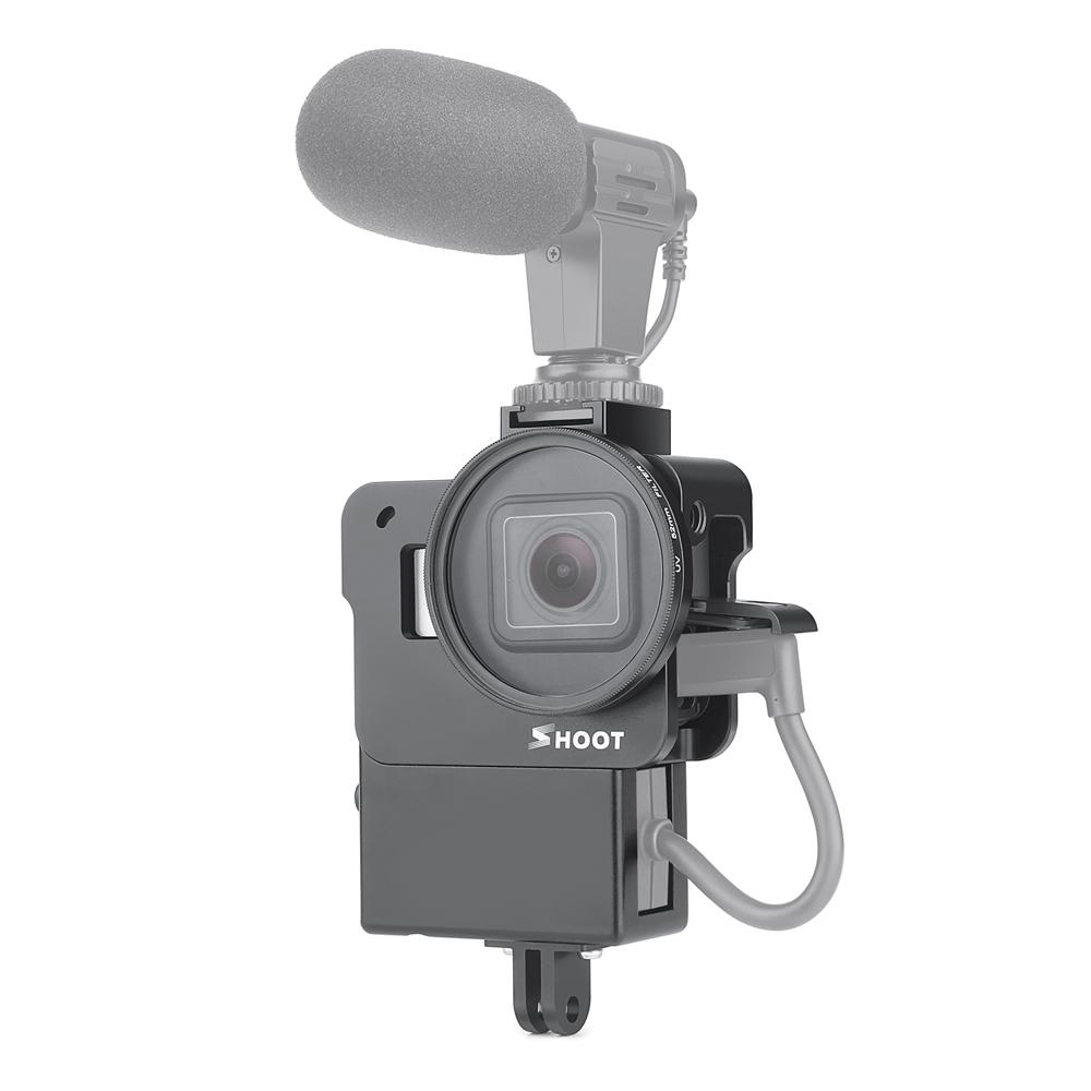 Защитная клетка Vlogging Чехол для GoPro Hero 7 6 5 Black камера Крепление для Микрофон Рамка корпуса Vlog Cage Чехол - фото 1