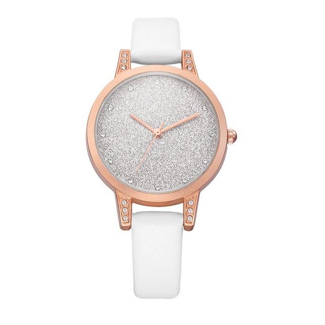REBIRTH RE018 Rhinestone Elegant Дизайн Женское Наручные часы Розовое золото Чехол Кварцевые часы - фото 3